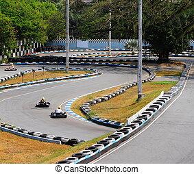 aller, kart, champ courses