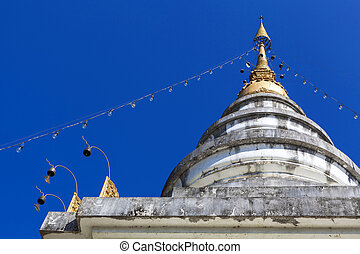 pagoda - Detail of pagoda in Mae Chaem northern thailand,...