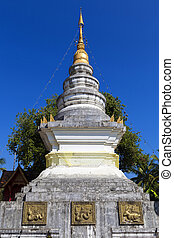 Pagoda in Mae Chaem northern thailand, Chiang Mai, Thailand