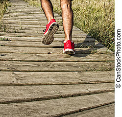 Runner legs detail training outdoor