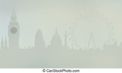 fog in London city - Animated cartoon - fog in London city