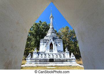 Pagoda in temple of Mae Hong Son northern thailand, Mae Hong...