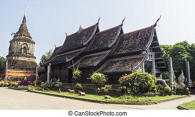 Wat Lok Moli Temple at Chiangmai, Thailand