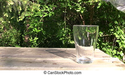 Glass of Fresh Water - Pouring fresh water in a glass HD...