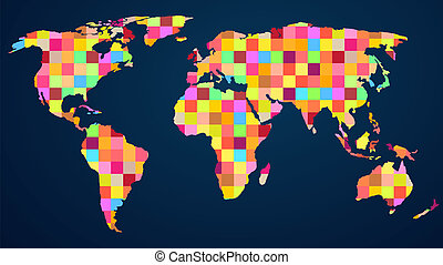 Colorful rainbow map