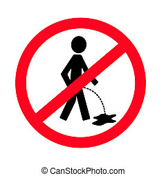 No pissing sign vector man