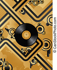 Retro background - Abstract retro background with the vinyl...