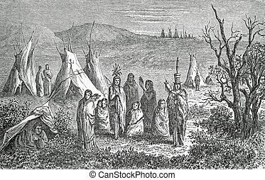 campo, Sioux, indios
