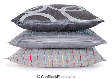 Overlapped pillows - Gray pillows with clipping path
