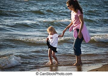 kötés, tengerpart