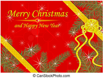 Christmas background or gretting card Vector