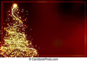 Abstract christmas tree - Abstract golden christmas tree on...