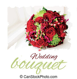 Vector wedding bouquet - Bridal bouquet of white on the...