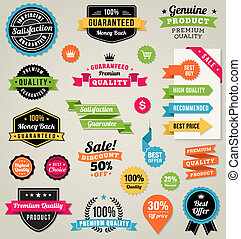 Colorful Vector Web Elements - Set of composed of a lot of...