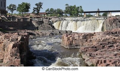 Beautiful falls of Sioux Falls, SD - Beautiful falls of...