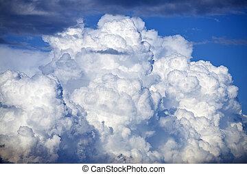 cloud - big thunder cloud and blue sky