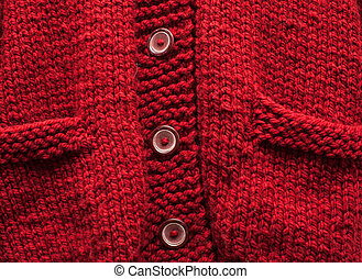 red knitted cardigan background texture