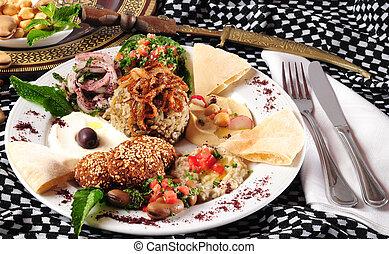 Vegetarian food - Plate full of mixed vegetarian food