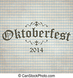 old vintage background with checkered pattern and...