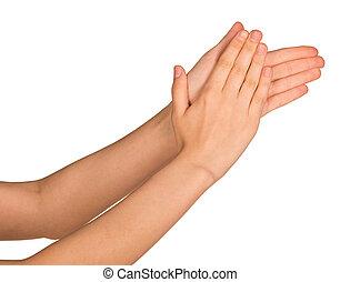 aplaudindo, mãos