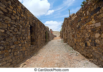 Real de Catorce streetscape - streetscape in the abandoned...