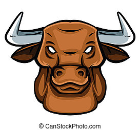 Bull Head Tattoo Vector Illustration