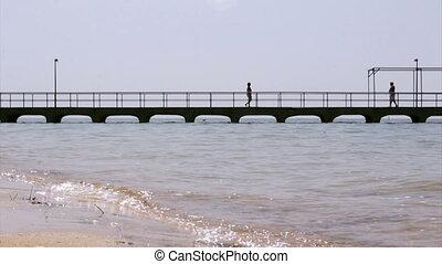 Ria Formosa - Culatra island dock C - Culatra island port,...
