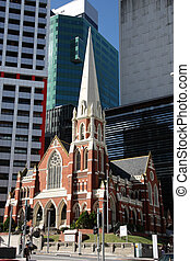 Brisbane - Albert Street Uniting Church surrounded by...