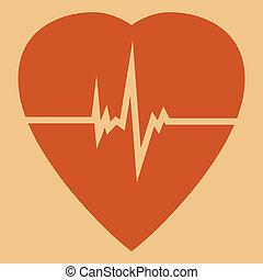 Defibrillator icon - Defibrillator red heart icon isolated...