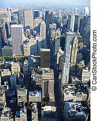5th avenue from above, New York
