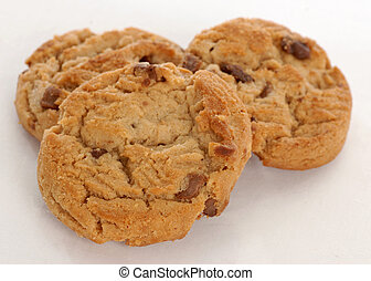 peanut butter chocolate chip cookies - three peanut butter...