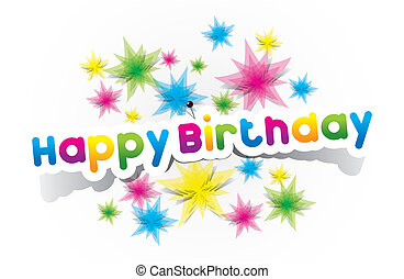 Happy Birthday - Colorful Happy Birthday Greeting Cards...