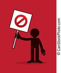 Figure Holding Do Not Cross Out Sig - Figure holding crossed...