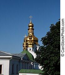 Golden domes of Kiev Pechersk Lavra Monastery