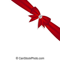Gift Bow with Ribbon. Vector Illustration.