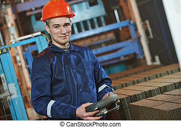 industrial engineer worker at control panel - industrial...