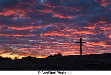 Cross Sun Setting