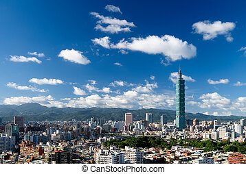 cityscape - It is a beautiful cityscape in Taipei of Taiwan.