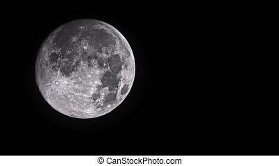 Full moon on a background of black night sky