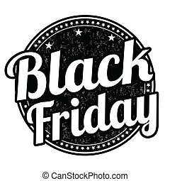 Black friday stamp - Black friday grunge rubber stamp on...