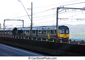 Metlink train in Wellington - New Zealand - WELLINGTON - AUG...