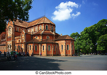 Abtract landscape of Notre Dame, Ho Chi Minh city - HO CHI...