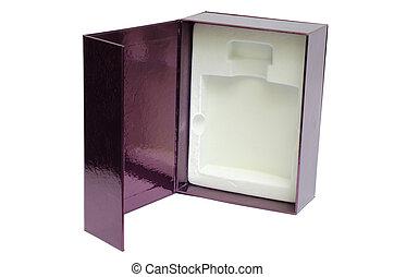 Perfume box isolated on white background