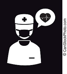 Medical design over black background,vector illustration