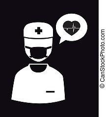 Medical design over black background,vector illustration