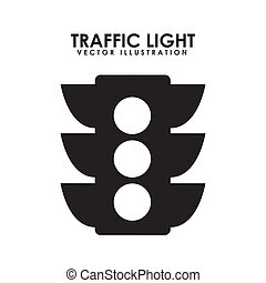semaphore - traffic light over white background, vector...