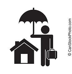 insurance design over white  background vector illustration