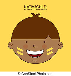 diversity of races over yellow background vector...
