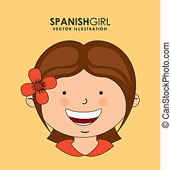 diversity of races over cream background vector illustration...