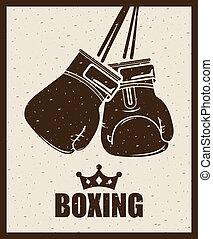 boxing design over beige background vector illustration